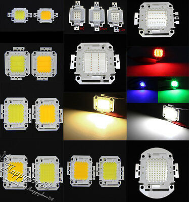 10W 20W 50W 30W 100W Cool/Warm White/RGB 30Mil High Power SMD Led Chip Light