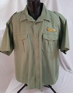 Cabela 39 s safari series mens camp shirt 2xl green heavy for Heavy button down shirts