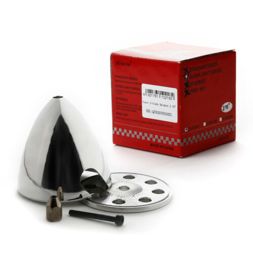 """Miracle Aluminum 70.5mm 2-blade Spinner 2.75 /""""for gasoline methanol engine"""