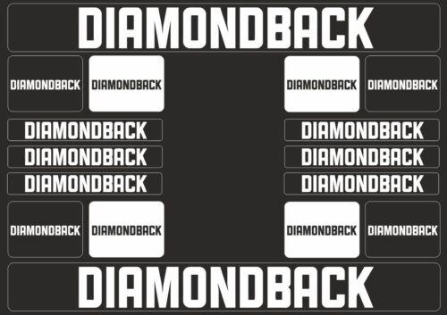 DIAMONDBACK Mountain Bicycle Frame Decal Sticker Graphic Adhesive Vinyl Black