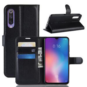 Pour-Xiaomi-mi-9-Se-Clapet-Magnetique-Carte-Portefeuille-Cuir-PU-Coque-Support