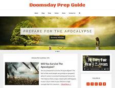 New Design Doomsday Prep Store Blog Website Business For Sale Auto Content
