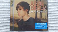 Justin Bieber My World (Rare/N Mint )UK Enhanced CD NEVER PLAYED PROMO STICKERED