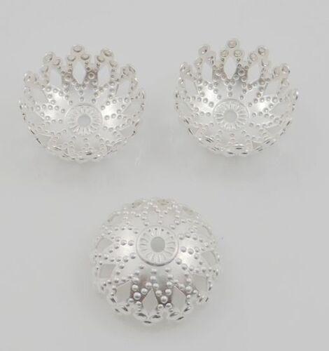 Free Shipping 100pcs Tibetan Silver Flower Beads Caps 12x5mm