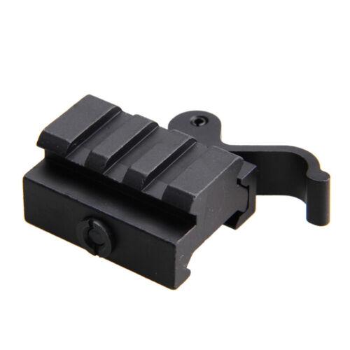 3Slots Riser QD Scope Mount 20mm Picatinny Weaver Rail Base For Rifle Sight