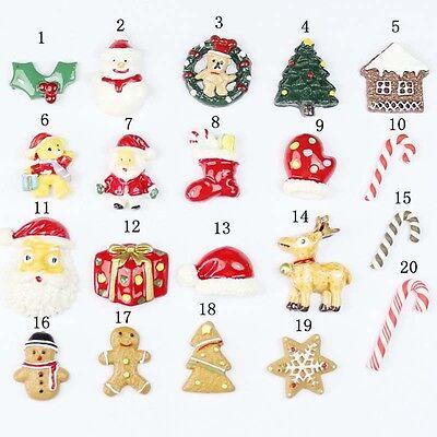 20Pcs Mixed Christmas Santa Claus Party Ornaments Xmas Tree Hanging Decoration