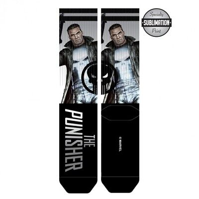 MARVEL COMICS BLACK PANTHER LOGO MOVIE SUBLIMATED ALL OVER PRINT MENS CREW SOCKS