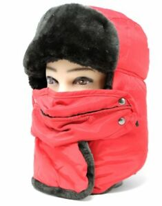 Details about Men s Winter Trapper Aviator Trooper Hat Neck Warm Face Mask  Fully Fur Lined bb71a5ca555e