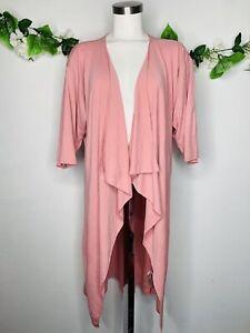 Lularoe-Shirley-Rosa-Cascata-DUSTER-Kimono-Cardigan-WOMEN-039-S-SZ-SMALL