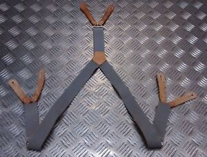 Genuine British RAF / MOD / Army Braces with Leather Buckles - Size 95cms SEL