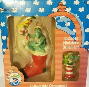 Vintage-Enesco-Jim-Henson-Fraggle-Rock-Christmas-Ornaments-Dr-Seuss-Set-1997