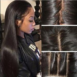 Women-039-s-Ladies-Brazilian-Full-Hair-Lace-Front-Wig-Long-Straight-Baby-Hair-Wigs