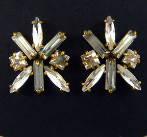 NEW-J-CREW-Retail-88-FACETED-GLASS-CRYSTAL-CLUSTER-EARRINGS-1-034-L