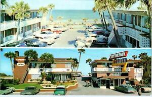 DAYTONA-BEACH-FL-CATALINA-BEACH-MOTEL-Lots-of-Cool-50s-Cars-RoadsidePostcard