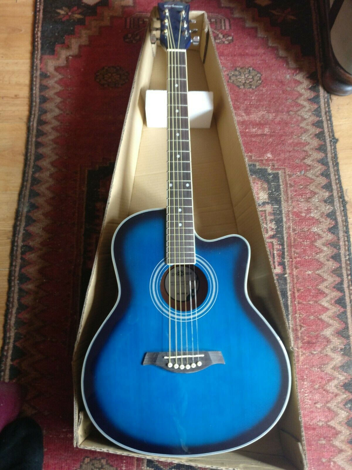 Nylon String Electro Acoustic Guitar  bluee
