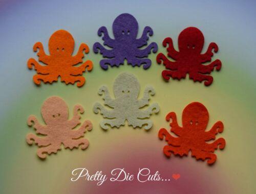 Felt Octopus Pack Of 6 Die Cut Sea Life Craft Embellishments