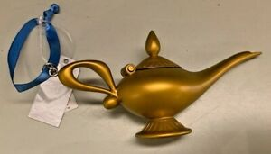 Disney Parks Exclusive Aladdin Magic Lamp and Genie Christmas Ornament New