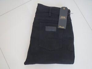 7d66a7cb Men's Wrangler Stryker Black Drop Slim Tapered Stretch Jeans Size ...