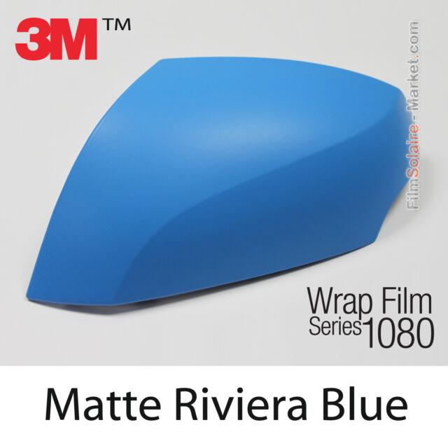 10x20cm LÁMINA Mate Riviera Blue 3M 1080 M67 Vinilo CUBIERTA Nuevo Series
