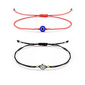 Shonyin mauvais œil rouge Hamsa Bracelet lucky protection String Kabbalah OJO TURCO