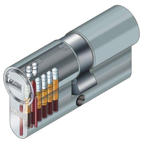 6er Set Abus EC550 mit N/&G Schließanlage INDIVIDUELL GEFERTIGT Wendeschlüssel