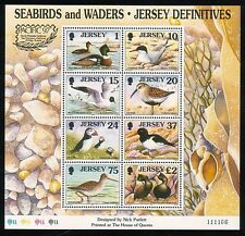 JERSEY 1997 SEABIRDS AND WADERS M/SHEET O/P SGMS817 U/MINT