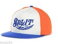 Split So. Cal Clothing Company Snapback Cap Orange White Blue - Osfm
