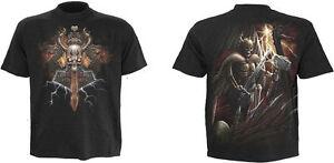Spiral-Direct-God-Of-Thunder-Thors-Hammer-Skeleton-Black-Short-Sleeved-Tshirt