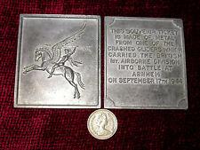 Replica Copy WW2 Airborne Pegasus Arnhem 'Ticket' Plaque moulded from original