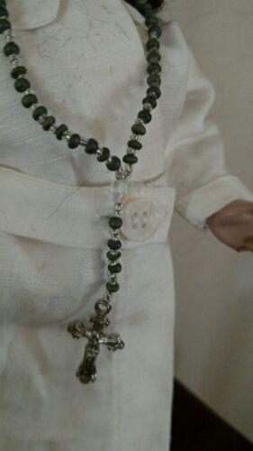"Gift? 6 1//2/"" Doll rosary for 18/"" doll or Bleuette or Rosette or.. 10 pair lot"