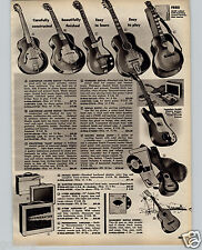 1964 PAPER AD Stratotone Mars Guitar Hohner Melodica Steve Allen