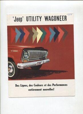 N°1733 / Dépliant Jeep Utlity Wagoneer Texte Français 1966 Bloedcirculatie Activeren En Pezen En Botten Versterken