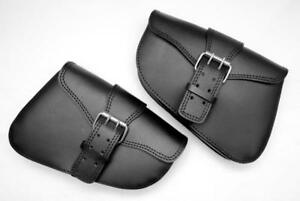 LOTE-2-bolsas-lateral-de-piel-I-D-para-Sportster-iron-forty-eight-nighster