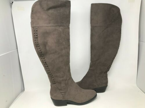 Sonoma Women/'s Tessy Block Heel Over The Knee Boots Taupe #113186 175T tk NEW