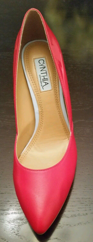 NEW BEAUTIFUL PUMPS ROT 100% LEATHER  PUMPS BEAUTIFUL Schuhe HEELS SIZE 9 59ef87