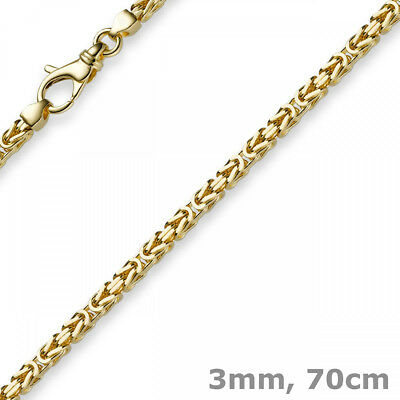 3mm Kette Halskette Königskette aus 750 Gold Gelbgold, 70cm, Herren, Goldkette