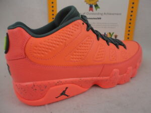 brand new 214c5 e828e Nike Air Jordan 9 Retro Low, Bright Mango / Hasta / Ghost Green ...