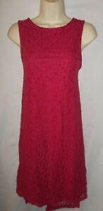 Apt-9-Dark-Pink-lace-lined-versatile-sun-dress-12-NWT-60-00