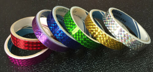 18mm Prism Tape CHOOSE HOW MANY 7 COLORS Silver Gold Pink Purple Green Red Blue