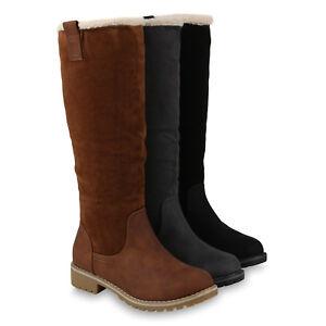 Klassische Damen Stiefel Warm Gef tterte Kunstfell 818321 Schuhe