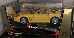 Details about 118 Rare Yellow Ferrari 550 Maranello BAD BOYS Movie Car  Performance Super 1/18