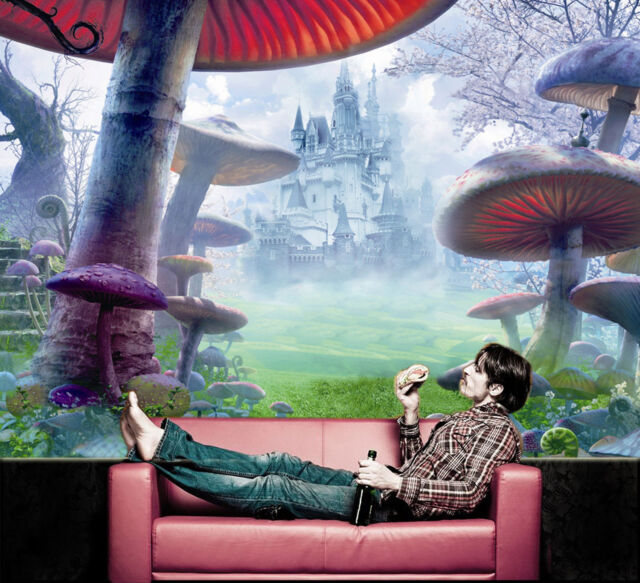 Pre-pasted Wallpaper Murals Alice in Wonderland Photo Wall Covering Home Decor