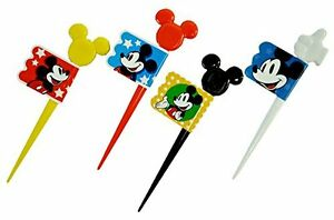Skater-lunch-picks-12-bottles-pick-Mickey-Mouse-Disney-LKP2