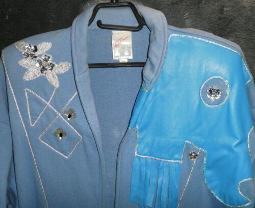 Oversize blu Fab pesante cotone anni '80 pelle in Spolverino pesante vintage in color Spolverino qtUwXTw
