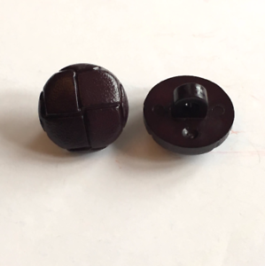 10 x 15mm round dark brown tweed effect resin shank buttons