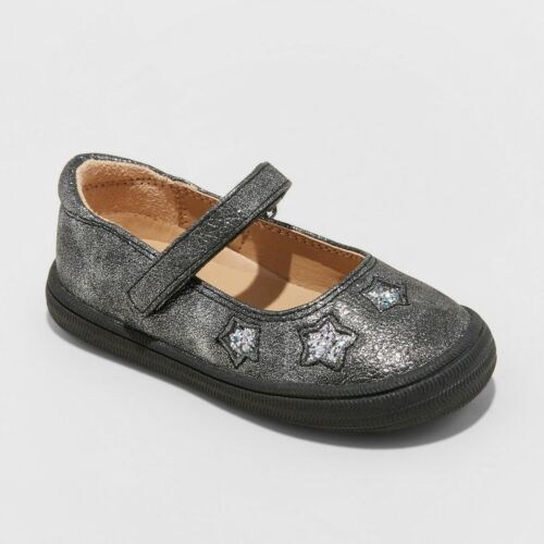 Pewter Cat /& Jack Toddler Girls/' Annabelle Adjustable Mary Jane with Glitter