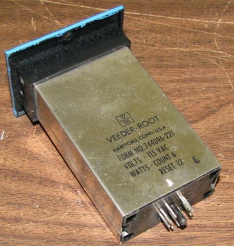 Veeder-Root 6-Digit Mechanical Counter 744096-221