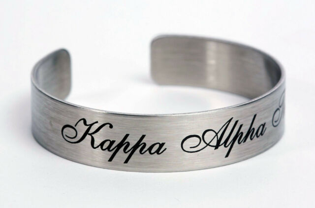 Kappa Alpha Theta, ΚΑΘ, Braggin' Bracelet Stainless Steel 6 or 7 Inch