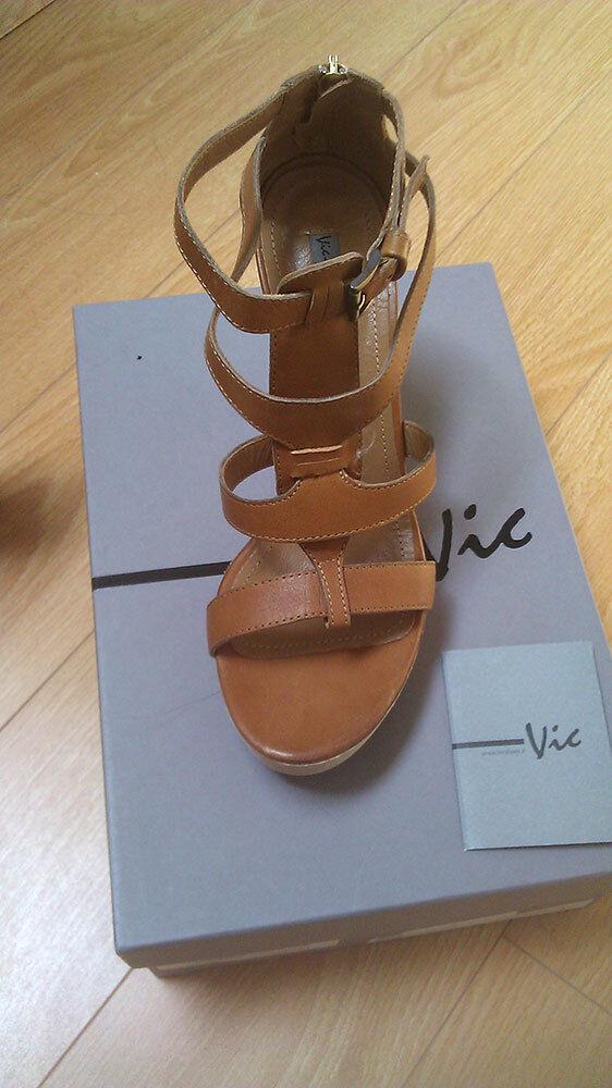 Ultimate Sale Vic Italien Gladiator -plattformän Sandal i Tan Sz8