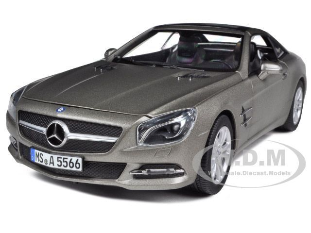 2012 MERCEDES SL CLASS SL 500 MATT gris 1 18 DIECAST MODEL CAR BY NOREV 183590